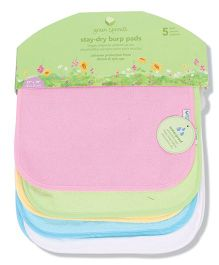 Green Sprouts Pack Of 5 Dry Burp Pads - Multicolor
