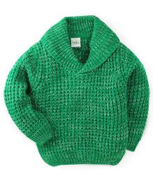 Babyhug Full Sleeves Sweater Tuck Knit - Green