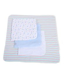 Spasilk 4 Piece Blanket Set - Multicolored