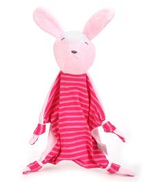 I Play Rabbit Face Animal Blankie - Pink