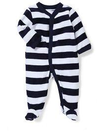 Vitamins Baby Big Stripes Romper - Black & White