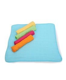 I Play 5 Piece Wash Cloth Set - Multicolored