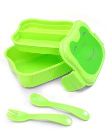 I Play Butterfly Design Lunch Box - Green