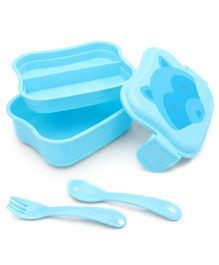 I Play Butterfly Design Lunch Box - Blue