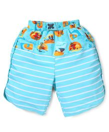 I play Stylish Shorts - Aqua Blue