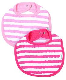 I Play 2 Piece Baby Bibs - Pink