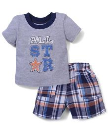 Vitamins Baby All Star Print T-Shirt & Shorts - Multicolor
