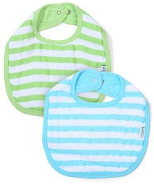 I Play 2 Piece Baby Bibs - Green & Blue