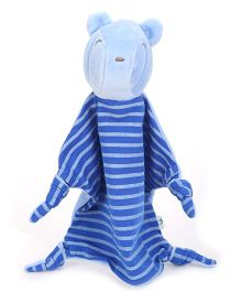 I Play Mouse Face Animal Blankie - Blue