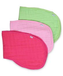 I Play 3 Piece Burp Cloth Set - Pink & Green