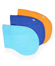 I Play 3 Piece Burp Cloth Set - Blue & Orange