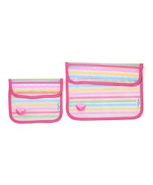 I Play Reusable Snack Bag Set Of 2 - Pink