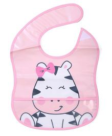 Lovespun Cat Print Bib - Light Pink