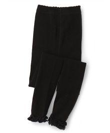 Jefferies Socks With Ruffles Tights - Black