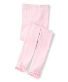 Jefferies Socks With Ruffles Tights - Light Pink
