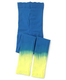 Jefferies Socks With Ruffles Footless Tights - Blue & Yellow