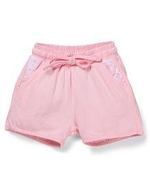 Cucumber Drawstring Shorts - Pink