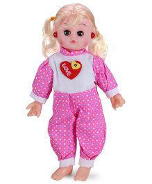 Smiles Creation Musical Doll Stuffed Plush Soft Toy - Pink