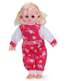 Smiles Creation Musical Doll Stuffed Plush Soft Toy - Red