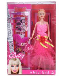 Smiles Creation Betty Doll With Make Up Accessories Pink - 28.5 cm