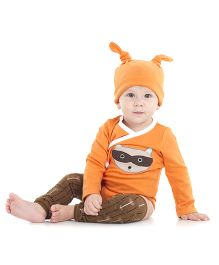 juDanzy Cartoon Print Onesie - Orange