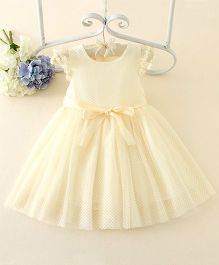 Peach Giirl Party Dress  - Cream