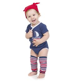 juDanzy Ship Print Onesie - Blue