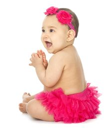 juDanzy Frilled Diaper Cover - Pink