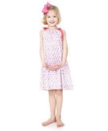 juDanzy Flower Print Dress - Pink