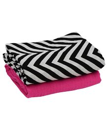 juDanzy Pack Of 2 Muslin Swaddle Blankets - Black & White