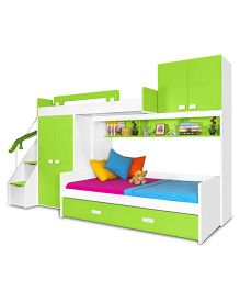 Alex Daisy Play Bunk Bed -  Green