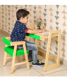 Alex Daisy Pineworks Desk & Chair Set - Green