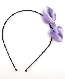 Eternz Haedos Collection Bow Hair Band - Purple