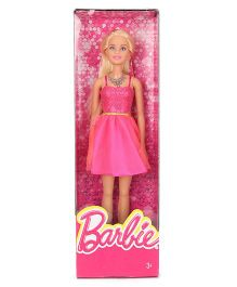Barbie Doll In Shimmery Party Dress Dark Pink - 29 cm