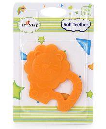 1st Step Soft Lion Shaped Teether - Orange