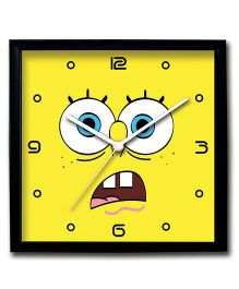 Stybuzz Wall Clock Spongebob Print - Yellow