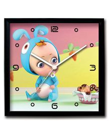 Stybuzz Wall Clock Baby Print - Multi Color