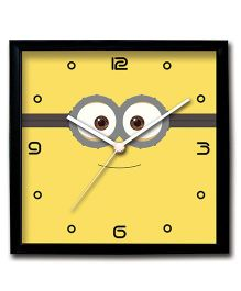 Stybuzz Wall Clock Minion Print - Yellow