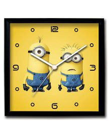 Stybuzz Wall Clock Minions Print - Yellow
