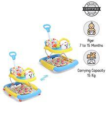 Babyhug Mini Steps Baby Walker - Yellow & Blue