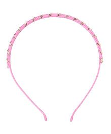 Cutecumber Party Wear Hair Band - Dark Pink