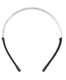 Cutecumber Party Wear Hair Band Black - Stone Embellishment