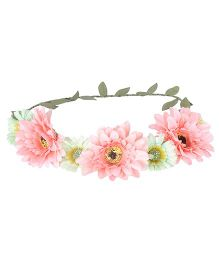 Cutecumber Floral Hair Tiara Peach - Floral Design