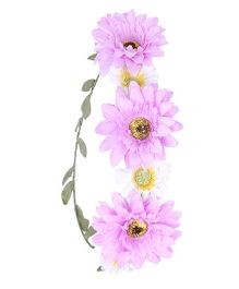 Cutecumber Floral Hair Tiara Purple - Floral Design
