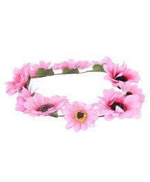 Cutecumber Tiara Floral Embellishment - Pink