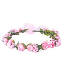 Cutecumber Hair Tiara Floral Embellishment - Pink