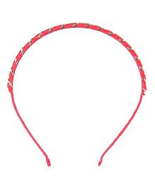 Cutecumber Party Wear Hair Band - Red