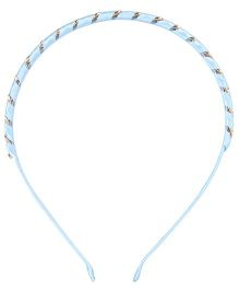 Cutecumber Party Wear Hair Band - Sky Blue