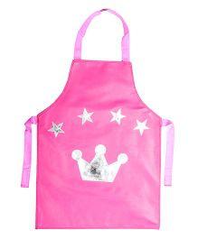 Li'll Pumpkins Crown Star Apron - Pink