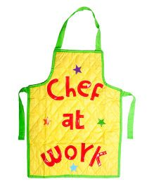 Li'll Pumpkins Chef At Work Apron - Yellow
